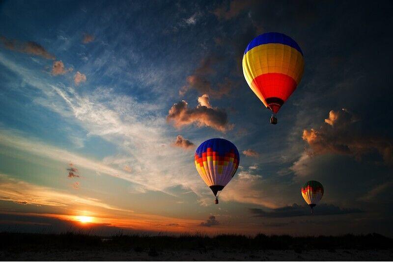 Romanttinen kuumailmapallolento kahdelle