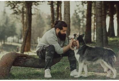 Vierailu Husky tilalla ja lyhyt koirarekiajelu